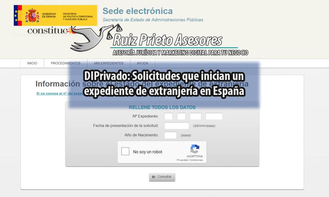 Derecho internacional Privado: Solicitudes que inician un expediente de extranjería en España